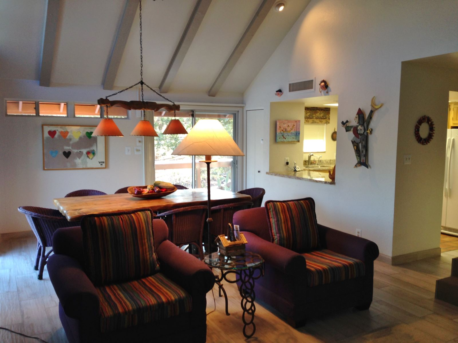 Living Room showing dining room with table  8 seats